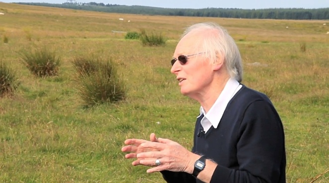 Professor Alan Watson on the moorland at Haverah Park, near Leeds