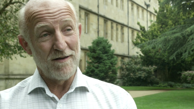Professor Graham Ross in the gardens of Wadham College, Oxford, UK