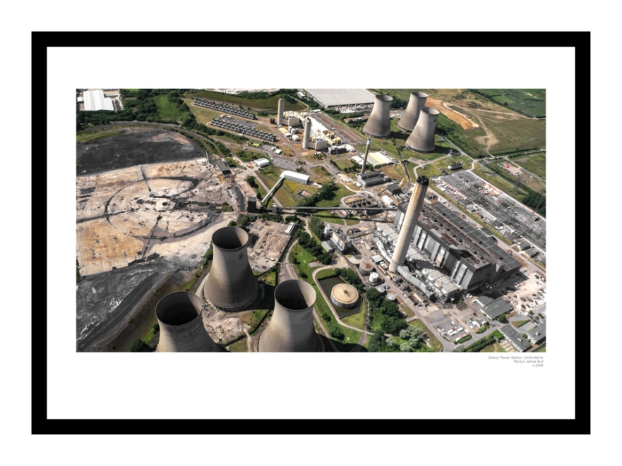 didcot power station aerial 50x70 landscape series martyn james bull 960x720